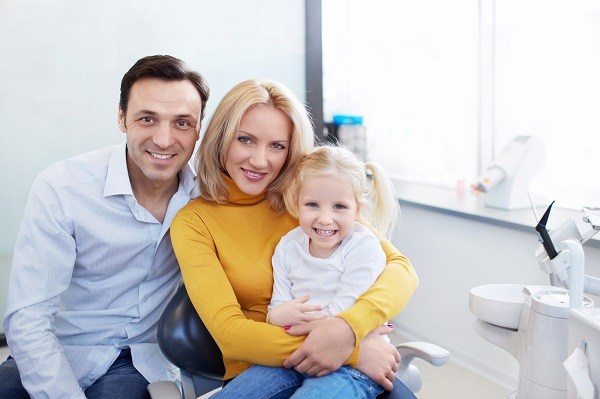 family at our dental office